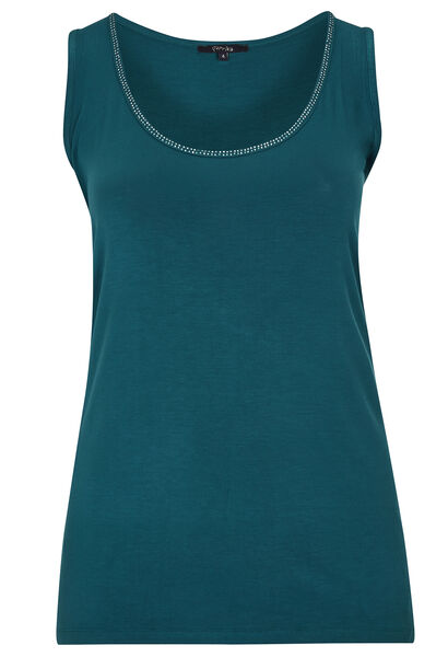 Top in viscose - Emerald groen