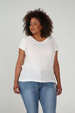 T-shirt bi-matières, Ecru