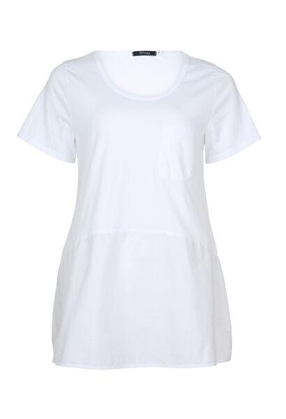 T-shirt mi-long - Blanc