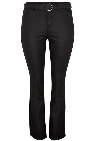 Pantalon enduit coupe droite - Noir