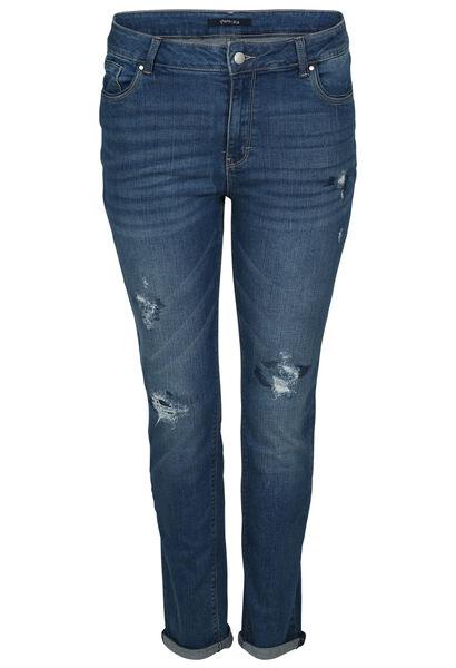 Jeans met gescheurd effect - Denim