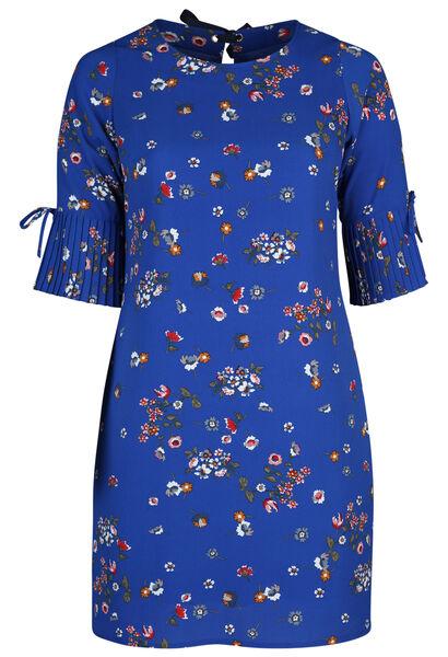 Robe imprimée fleurie - Bleu Bic