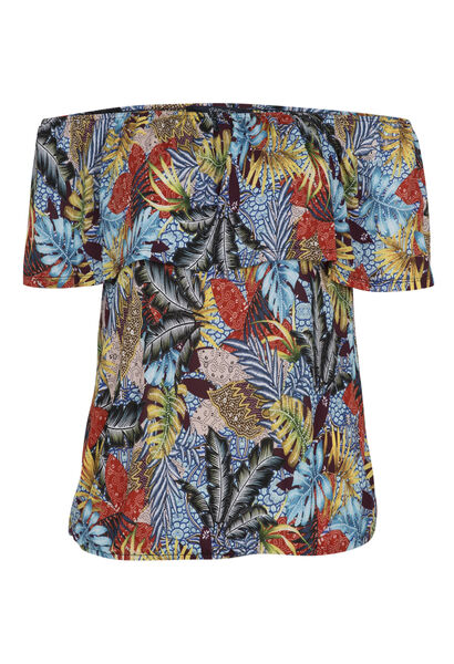 T-shirt met jungleprint - Multicolor