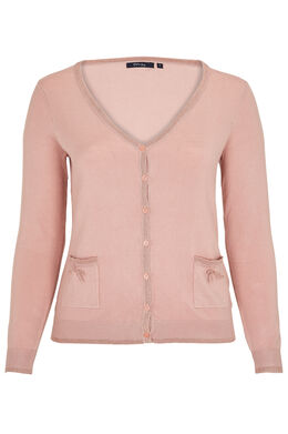 Cardigan détail lurex, Blush