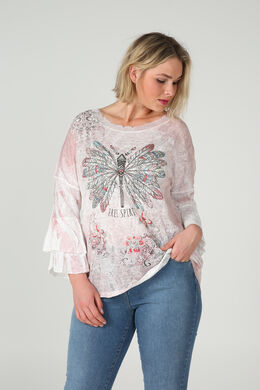 T-shirt imprimé fantaisie, Blush