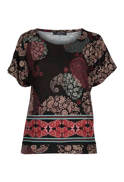 T-shirt in warm tricot - Pruim