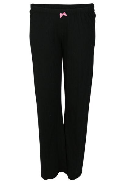 Effen pyjamabroek - Zwart