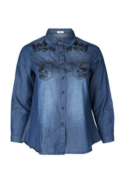 Chemisier en jeans brodé - Denim