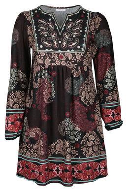 Bedrukte jurk, Pruim