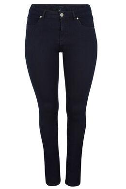 Skinny jeans met 5 zakken, Marineblauw