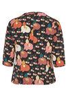Blouse met poppy print en halskettinkje, Fushia