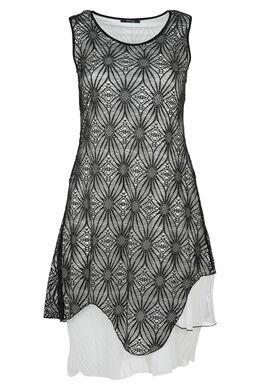 Bedrukte jurk, Zwart