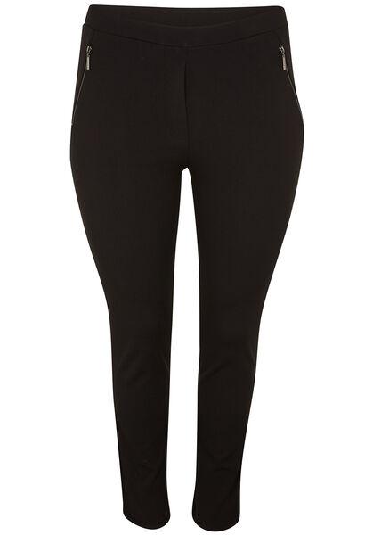 Geklede broek in jeggingstijl - Zwart