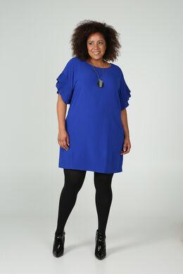 Robe manches plissées, Bleu Bic
