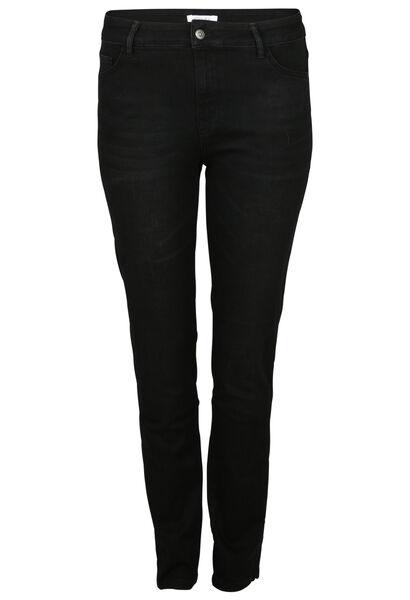 Geborduurde jeans - Zwart