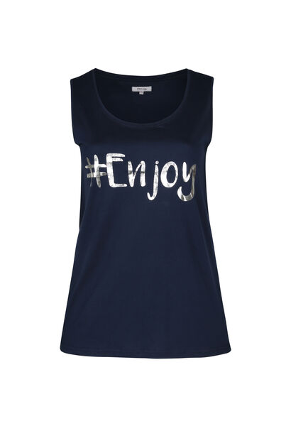 "T-shirt de nuit ""#Enjoy"" - Marine"