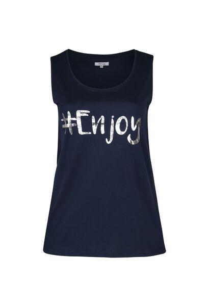 Top '#Enjoy' - Marineblauw