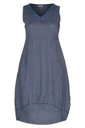 Longue robe en lin rayée