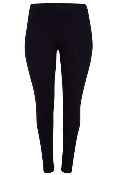 Lange, basic legging - Marineblauw