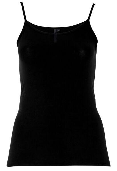 Top met dunne schouderbandjes - Zwart