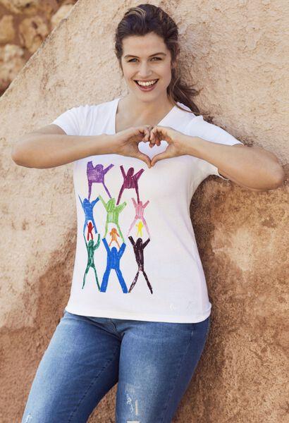 T-shirt Make a wish - Blanc