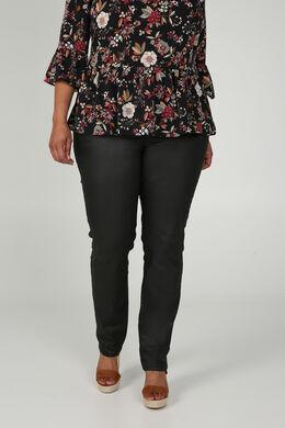 Pantalon enduit 5 poches, Noir