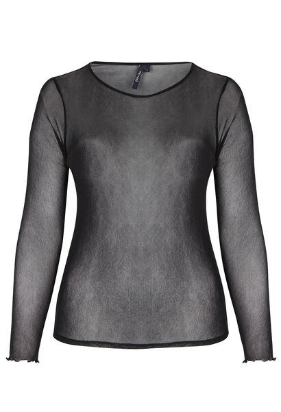 T-shirt voile - Zwart