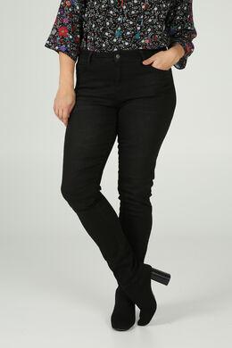 Geborduurde jeans, Zwart