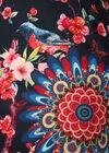 Robe imprimé oiseaux et mandala, Marine