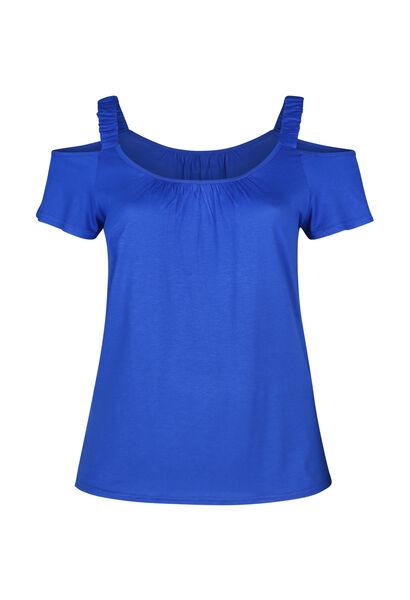 T-shirt met elastische bandjes - Bic blauw