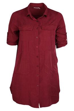 Robe chemise en lyocell, Bordeaux