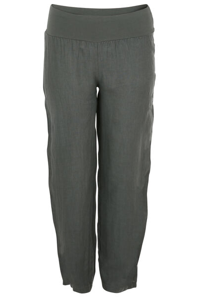 Pantalon long en lin - Kaki