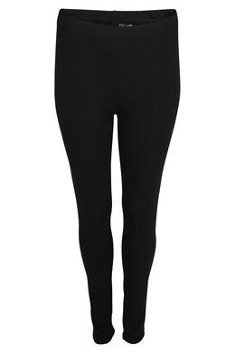 Lange legging van biokatoen, Zwart