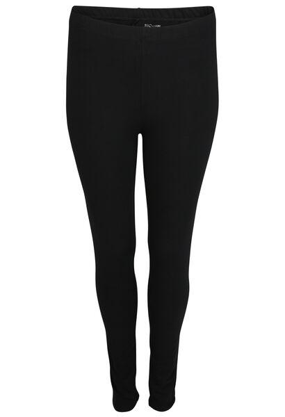 Lange legging van biokatoen - Zwart
