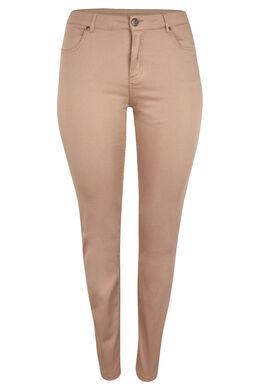 Vormgevende slim broek met 5 zakken, Camel