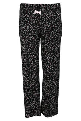 Pantalon imprimé têtes de chats, Noir