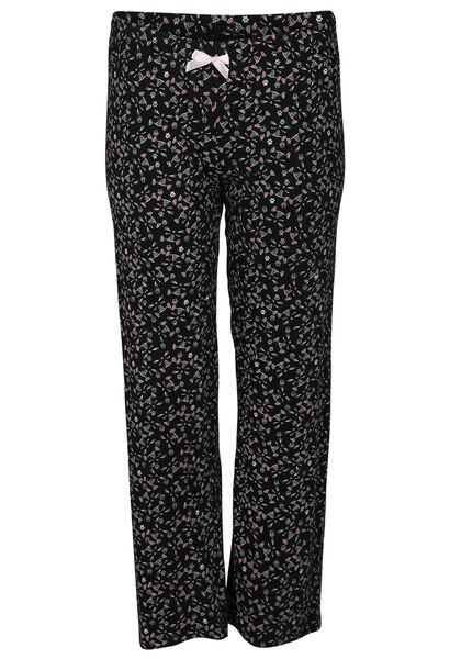 Pantalon imprimé têtes de chats - Noir