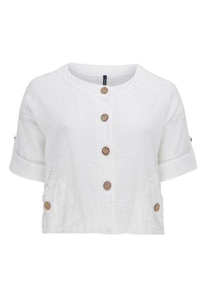 Veste courte en lin - Blanc