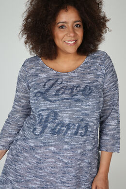 Lichte trui-jurk 'Love Paris', Indigo
