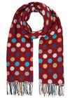 Sjaal met grote, veelkleurige stippen, Tomaat