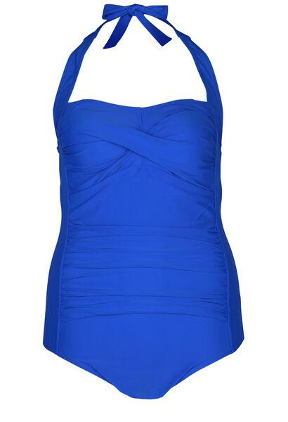 Effen badpak - Bic blauw