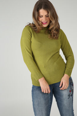 Pull col roulé, Vert Olive