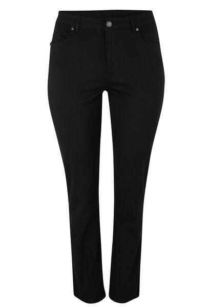 Vormgevende slim broek met 5 zakken - Zwart