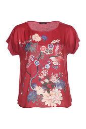 Satijnachtig T-shirt met Japanse print