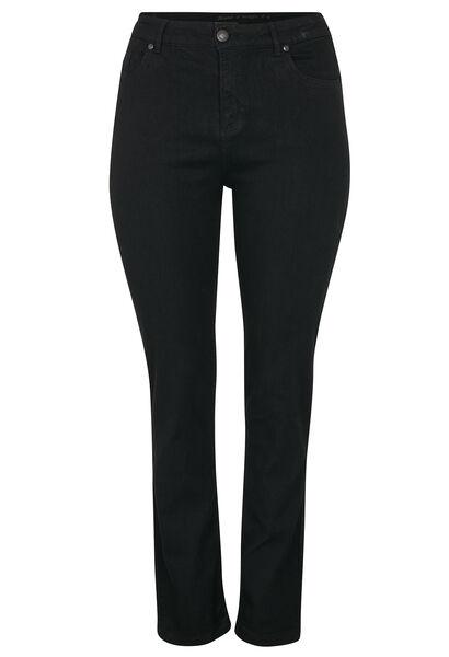 Vormgevende slim jeans met 5 zakken - Zwart