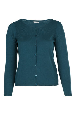 Cardigan in fantasiesteek, Emerald groen