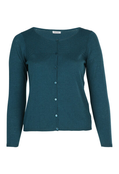 Cardigan in fantasiesteek - Emerald groen