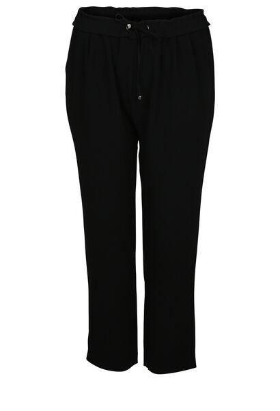 Soepel vallende, geklede broek - Zwart