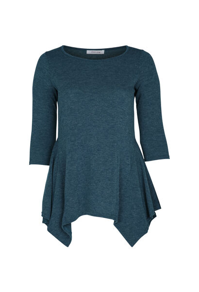 Tuniek-T-shirt in warm tricot - Emerald groen
