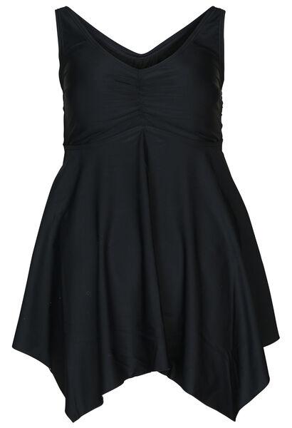Maillot de bain robe uni - Noir